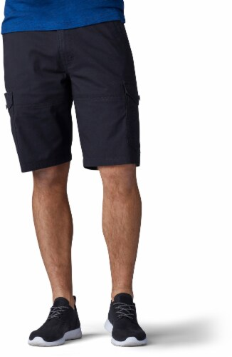 Lee Men's Extreme Motion Swope Shorts - Black Perspective: front