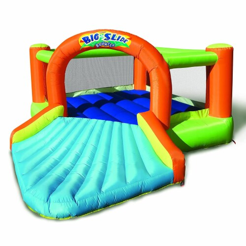 Banzai Big Slide Bouncer Outdoor Inflatable Kids Playhouse and Slide with Blower Perspective: front