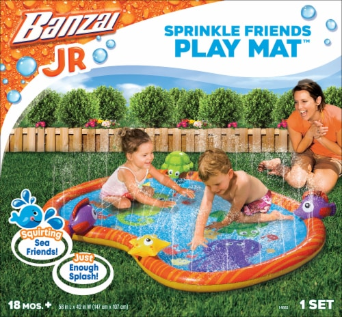 Banzai Sprinkle Friends Play Mat Perspective: front