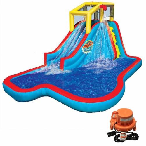 Banzai Slide N Soak Splash Park Inflatable Outdoor Kids Water Park Play Center Perspective: front