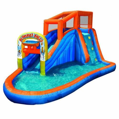 Banzai Plummet Falls Adventure Kids Inflatable Outdoor Water Park Pool Slide Perspective: front