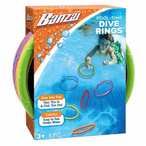 Banzai Pool-Time Dive Rings Perspective: front