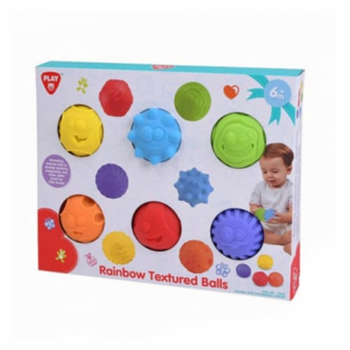 playgo 2403 Rainbow Textured Balls - 6 Piece Perspective: front