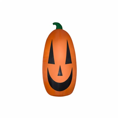 Good Tidings Extra Happy Pumpkin Inflatable Perspective: front