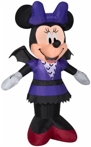 Gemmy Airblown Minnie in Bat Costume Inflatable Perspective: front