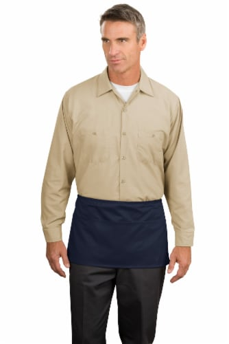 Port Authority 174  Waist Apron with Pockets.  A515 OSFA Navy Perspective: front