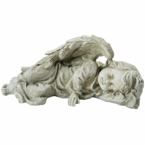 Northlight 32588796 9.75 in. Decorative Sleeping Cherub Angel Outdoor Garden Statue Perspective: front