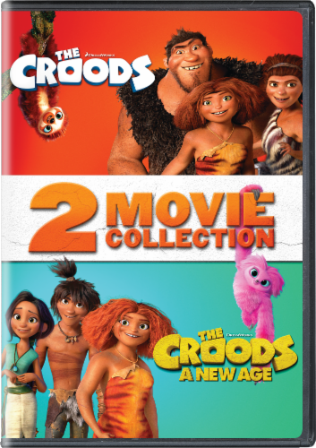 The Croods and The Croods 2: A New Age (DVD) Perspective: front