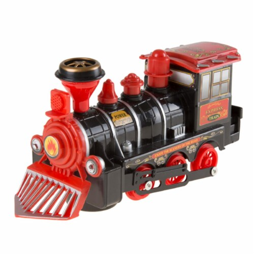 Hey Play 80-HM335160 Toy Train Locomotive Engine Car - Black Perspective: front