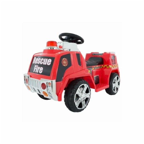 Lil Rider 80-ZV119Fire Battery Powered Fire Truck for Kids, Red Perspective: front