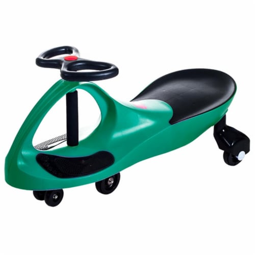 Lil Rider M370008 Ride on Toy Wiggle Car by Lil for Boys & Girls, Green Perspective: front