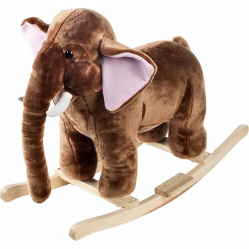 Happy Trails Plush Rocking Mo Mammoth with Sounds Perspective: front