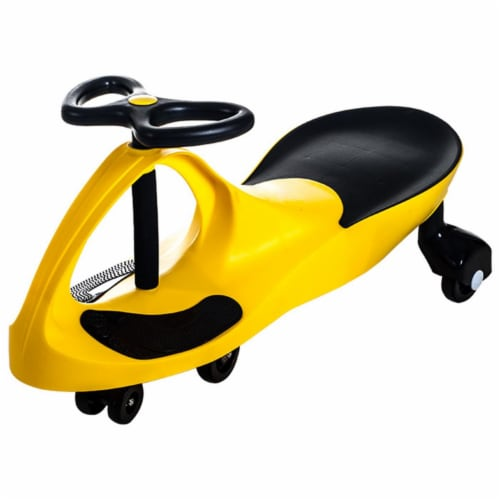Lil Rider M370022 Ride on Toy Wiggle Car by Lil for Boys & Girls, Yellow Perspective: front