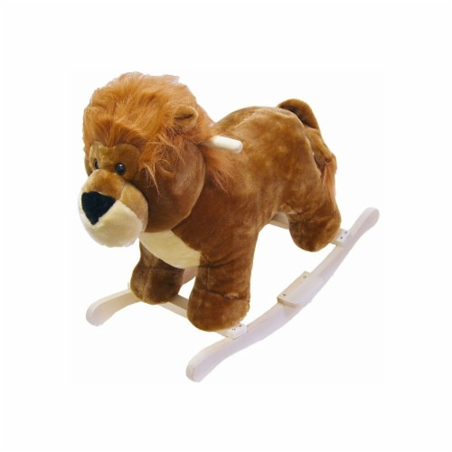 Happy Trails Lion Plush Rocking Animal Perspective: front