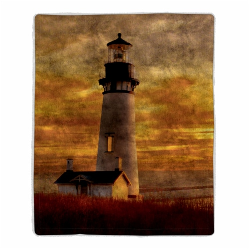 Fluffy Plush Throw Blanket 50 x 60 Inch- Lighthouse Print  Lightweight Hypoallergenic Bed or Perspective: front