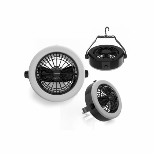 Wakeman 80-48454 2 in 1 Camping Lantern with Ceiling Fan Perspective: front