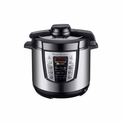 Classic Cuisine 82-CCYA20 6 qt 4-in-1 Pressure Cooker with 10 Programmed Settings Perspective: front