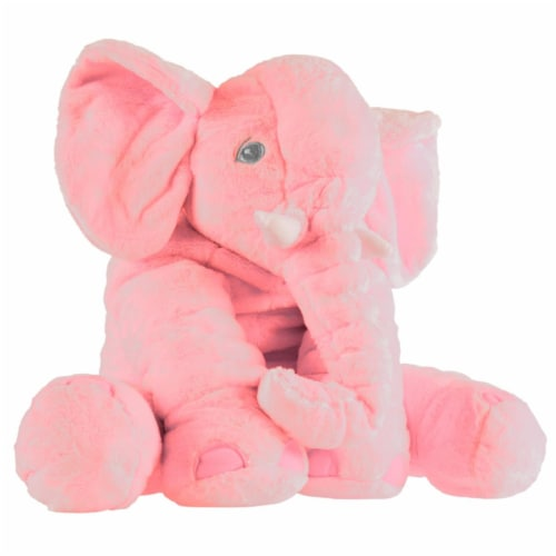 Happy Trails 80-SUM-170335 Elephant Stuffed Animal Plush Toy, Pink Perspective: front