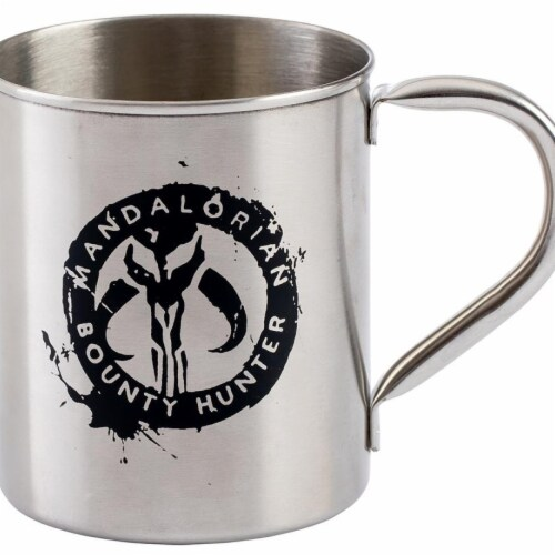 Star Wars the Mandalorian Metal Mug - 12 oz Perspective: front