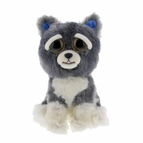 Feisty Pets Sammy Suckerpunch Dog Gray Plush Figure Perspective: front