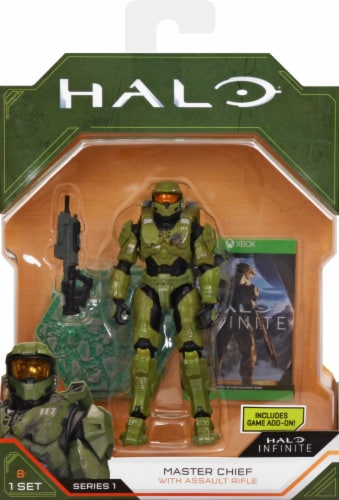 HALO Master Chief with Assault Rifle Figurine Perspective: front
