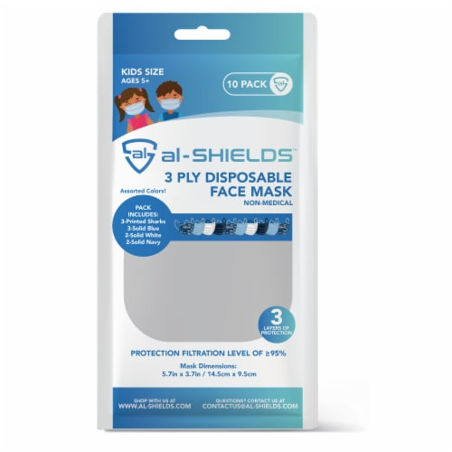 Al Shields 3 Ply Kids Disposable Face Mask -assorted Perspective: front