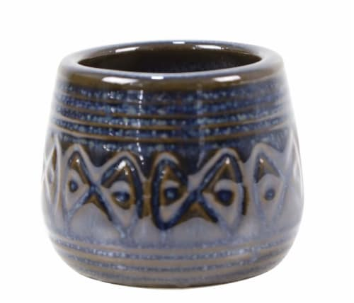 Deroma Spa Mini Pot - Blue 008 Perspective: front