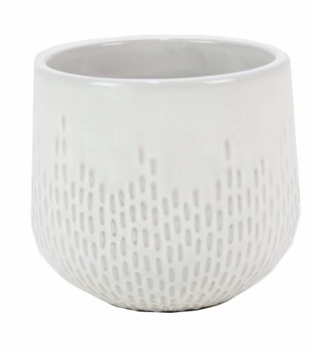 Deroma Spa Oberon Succulent Planter - White 003 Perspective: front