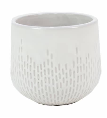 Deroma Spa Oberon Succulent Planter - White 003 Perspective: front