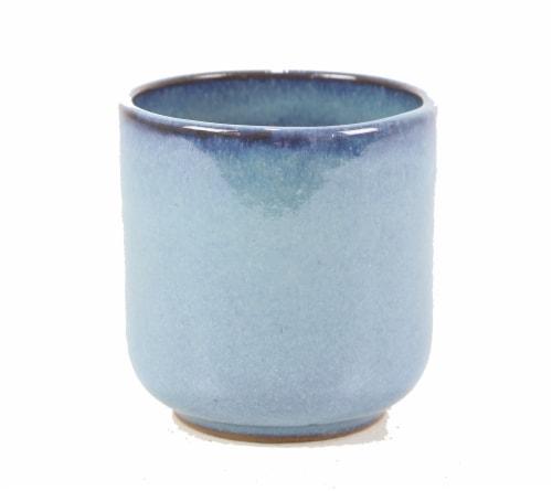 Deroma Spa Luna Succulent Planter - Blue 021 Perspective: front