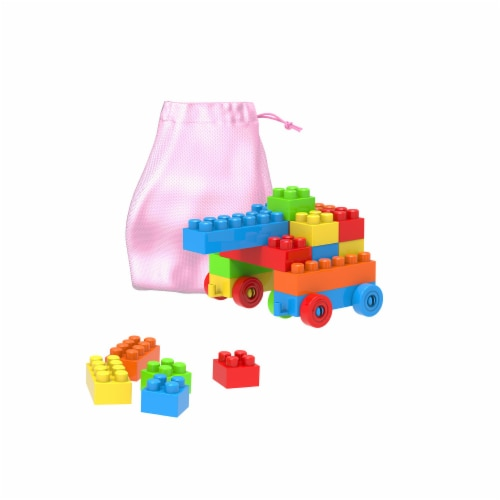 Hey Play 80-YC761128 Classic Building Blocks Storage Bag - 90 Piece Perspective: front