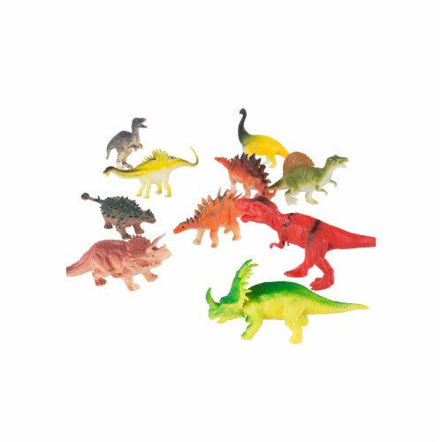 Hey Play 80-TK085338 Toy Dinosaur Figure Set - Pack of 10 Perspective: front