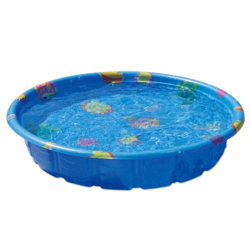 Summer Escapes Aquatic Print Wading Pool - Blue Perspective: front