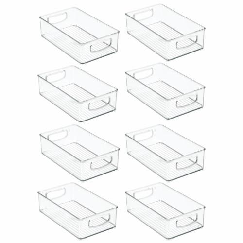 mDesign Plastic Kitchen Food Storage Organizer Bin - 8 Pack Perspective: front