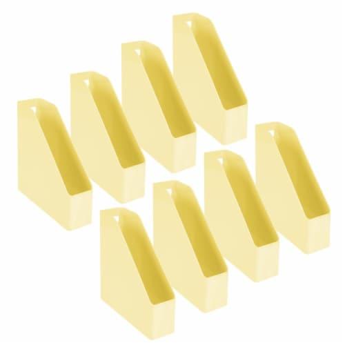 mDesign Plastic File Folder Bin, Office Desktop Organizer, 8 Pack Perspective: front