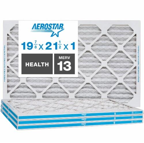 Aerostar 19 7/8x21 1/2x1 MERV  13, Health Air Filter, Box of 4 Perspective: front