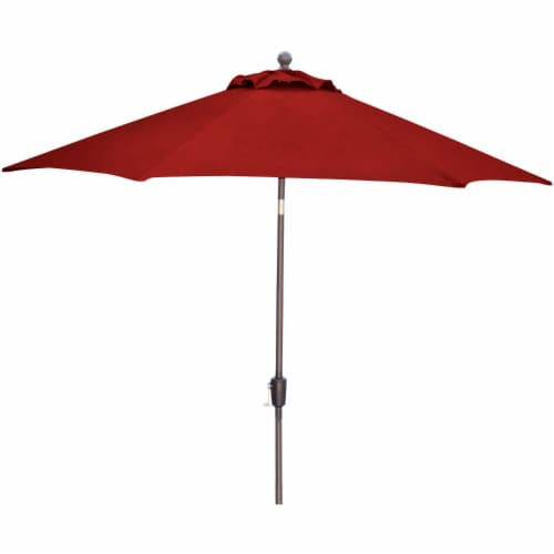 Hanover Traditions Table Umbrella - Red Perspective: front