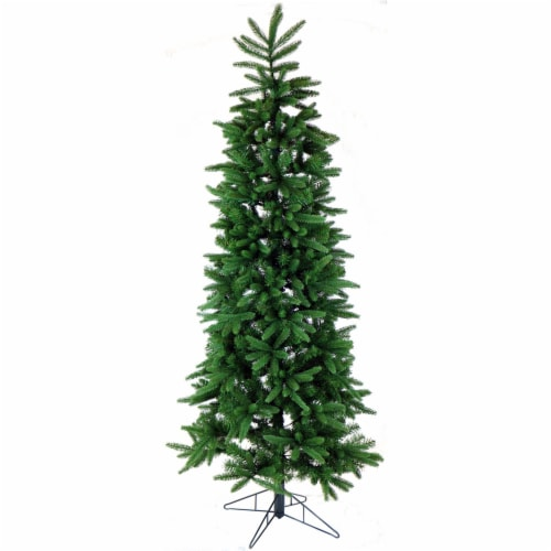Fraser Hill Farm Carmel Pine Slim Artificial Christmas Tree Perspective: front