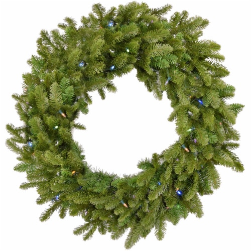 Grandland Artificial Wreath with Lights Perspective: front