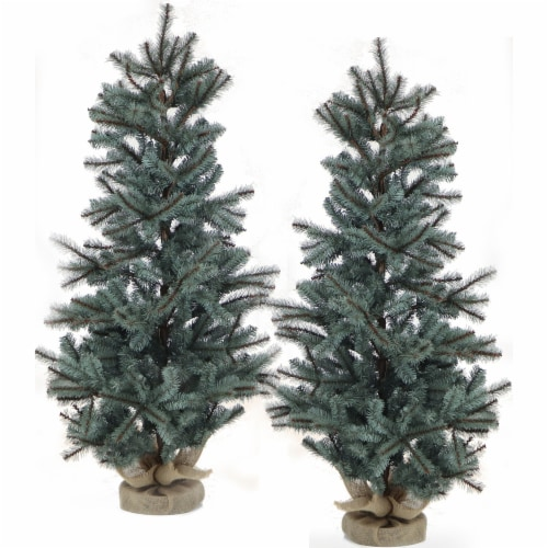 Fraser Hill Farm Heritage Pine Artificial Trees - Set of 2 Perspective: front