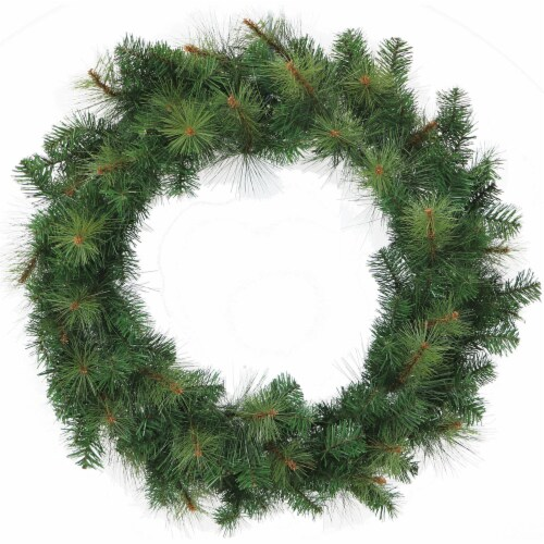 Southern Peace Artificial Holiday Wreath - 48 in Perspective: front