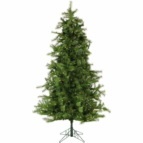 Christmas Time Artificial Christmas Tree with Clear LED String Lighting Perspective: front