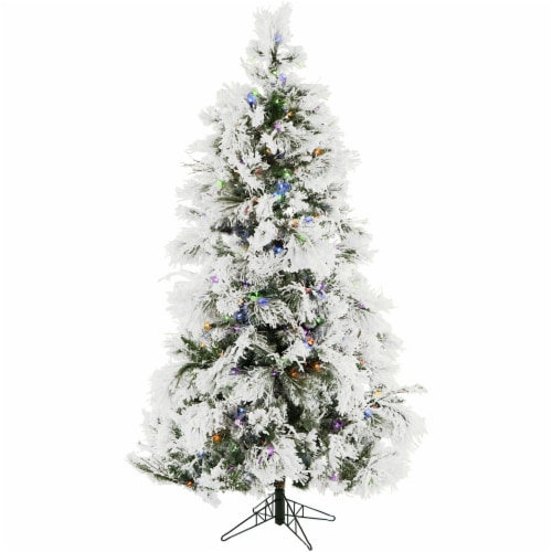 Christmas Time Artificial Christmas Tree with Multi-Color LED String Lighting Perspective: front