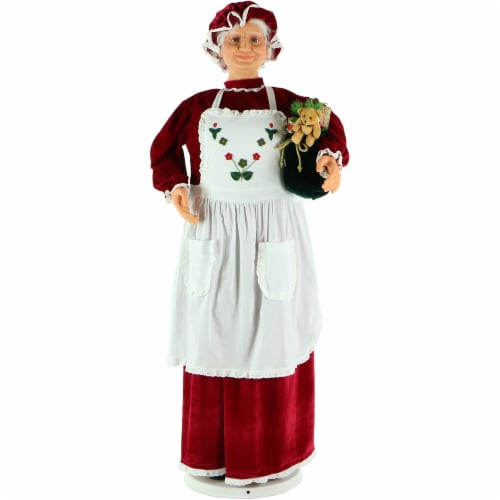 Fraser Hill Farm Dancing Mrs. Claus Doll Perspective: front