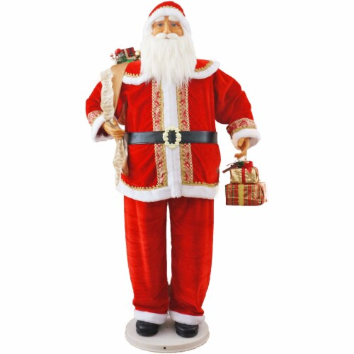 Fraser Hill Farm Dancing Santa with List Perspective: front