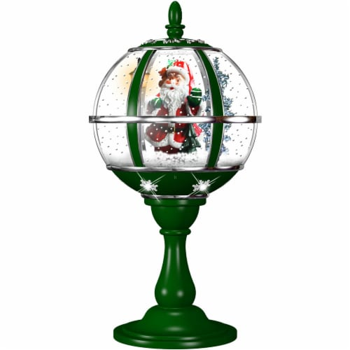 Fraser Hill Farm Tabletop Snow Globe Perspective: front