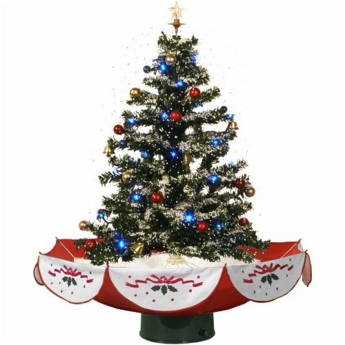 Fraser Hill Farm Let It Snow Musical Artificial Christmas Tree with LED String Lighting Perspective: front