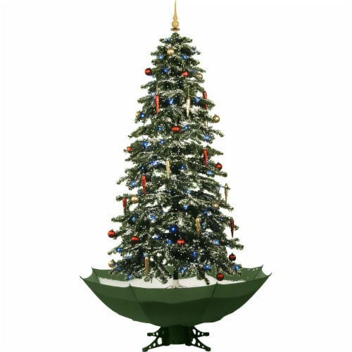 Fraser Hill Farm Let It Snow Musical Artificial Christmas Tree with White LED String Lighting Perspective: front