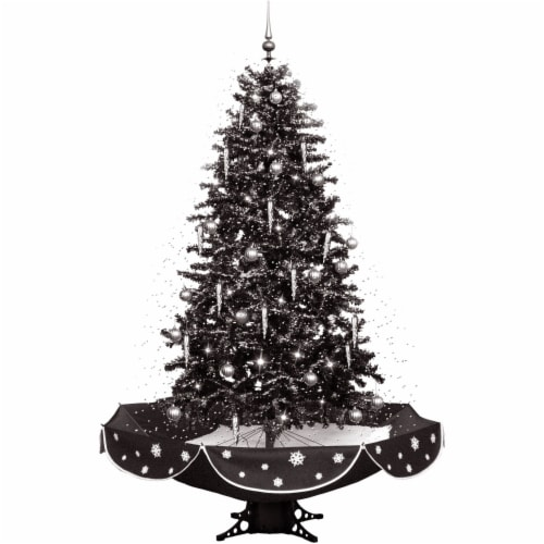 Fraser Hill Farm Musical Christmas Tree - Black/Silver Perspective: front