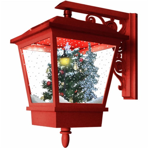 Fraser Hill Farm Wall-Mounted Musical Lantern - Red Perspective: front